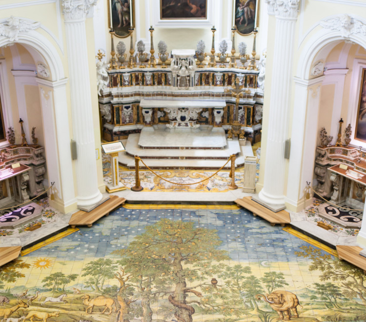 Ceramic floor of San Michele (Saint Michael) church, Anacapri